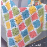 Colorful Granny Square Crochet Baby Blanket