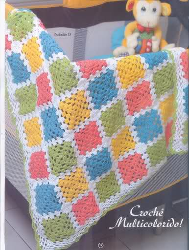 Colorful Granny Square Crochet Baby Blanket Crochet Kingdom
