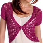 Elegant Women's Bolero Free Crochet Pattern