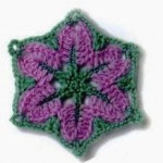 Crochet Flower in a Hexagon