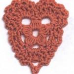 Simple Crochet Heart Motif