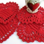 Crochet Hearts with Diagram