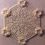 Hexagonal Doily with Flowers