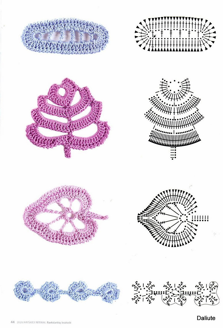Pastel crochet leaves crochet kingdom crochet leaves free bankloansurffo Image collections