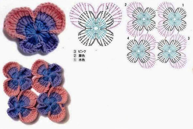 Crochet Pansies ⋆ Crochet Kingdom