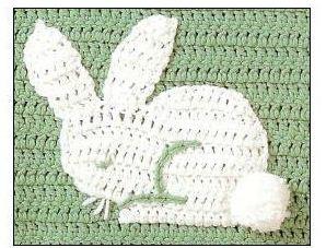 crochet rabit aplique motif free