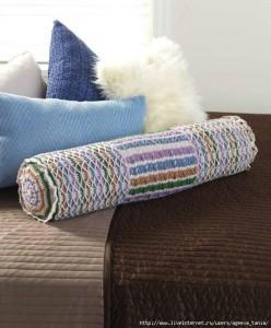 crochet round pillow roll pattern 3