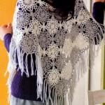 Two Toned Crochet Shawl
