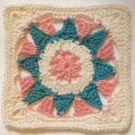 Flower/Sun Square Pattern