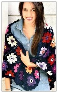 crochet square shawl
