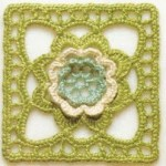Flower in a Square Crochet Motif