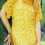 Yellow Crochet Tunic