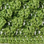 Crocodile Leaves Crochet Stitch