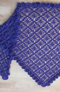 diamond shawl crochet pattern
