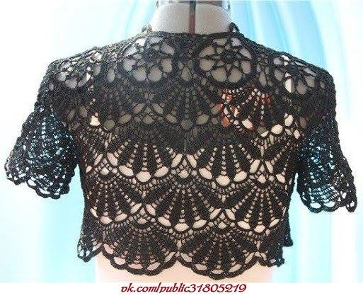 Fan Bolero Crochet Pattern ⋆ Crochet Kingdom