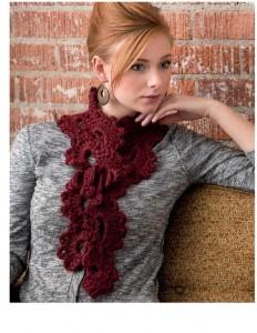 fans crochet scarf pattern