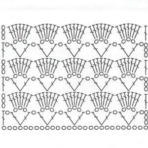 fans daimonds crochet stitch 1