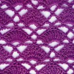 Fans in a Diamond Crochet Stitch