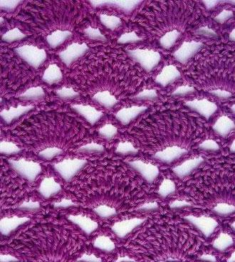 Fans in a Diamond Crochet Stitch ⋆ Crochet Kingdom