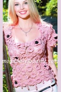 flower crochet top