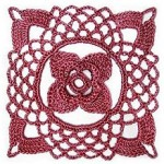 Flower Lace Crochet Square