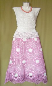 flower mesh skirt crochet pattern 1