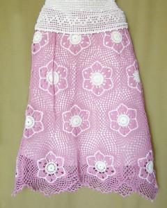 flower mesh skirt crochet pattern
