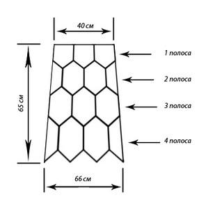 flower mesh skirt crochet pattern 4