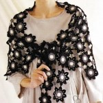 Shawl Crochet Pattern - Flower Motif