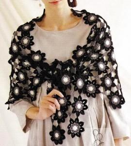 flower motif shawl crochet