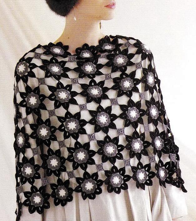 Crochet Floral Shawl Pattern : Shawl Crochet Pattern - Flower Motif ? Crochet Kingdom