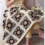 Flower Blanket Square Crochet
