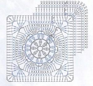 flower square crochet afghan