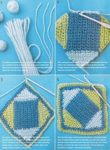 geometric crochet pillow 1