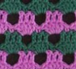 Green and Pink Stitch Crochet