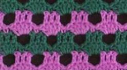 green-and-pink-crochet-stitch