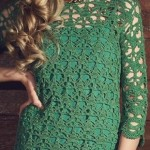 Lace Mini Dress Crochet