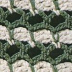 Green and White Stitch Crochet