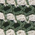 Green and White Stitch Crochet