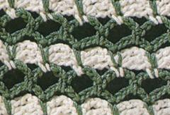 green white crochet stitch