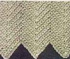 Herringbonde Ripple Crochet Stitch