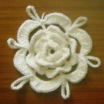 Irish Lace Crochet Flower