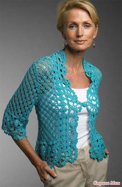 Free Crochet Pattern Lace Sweater : Lacy Cardigan Crochet ? Crochet Kingdom