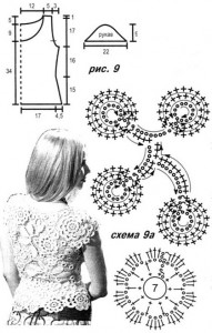 lace flower top pattern crochet