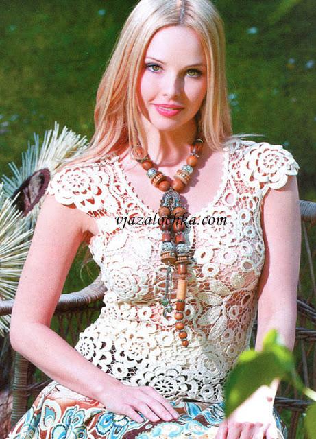 Crochet Lace Flower Top Free Pattern ⋆ Crochet Kingdom