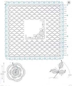 lace lace square motif flowers 1