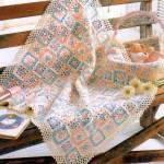 Little Flower in a Square Crochet Baby Blanket
