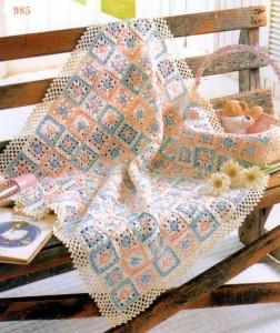 little square flower baby blanket