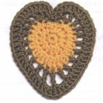 Crochet Heart Motif 1