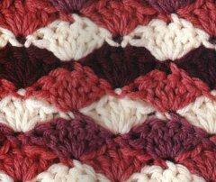 Multi-Colored Fans Stitch Crochet